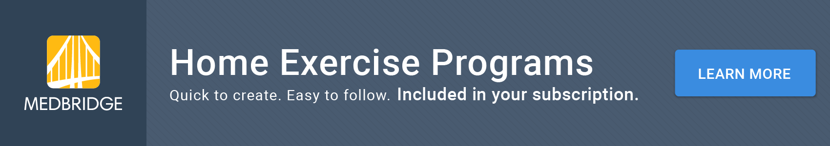 MedBridge Home Exercise Program Solution